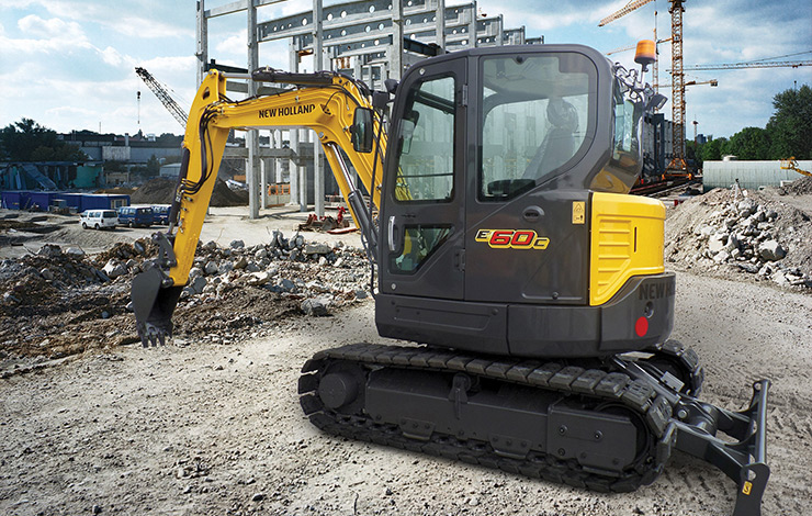 New Holland Construction E60C Compact Excavator